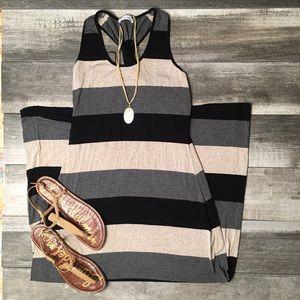 {Calvin Klein} Racerback maxi dress